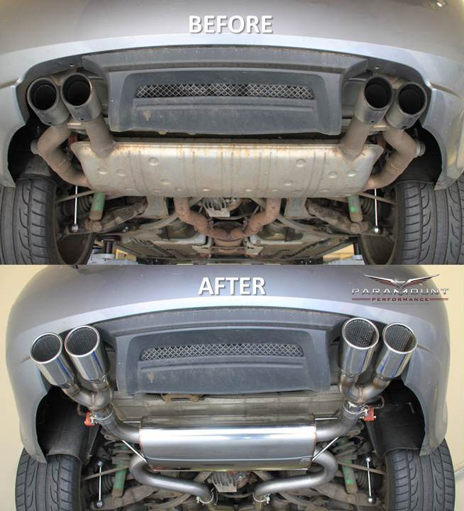 Jaguar XK exhaust system