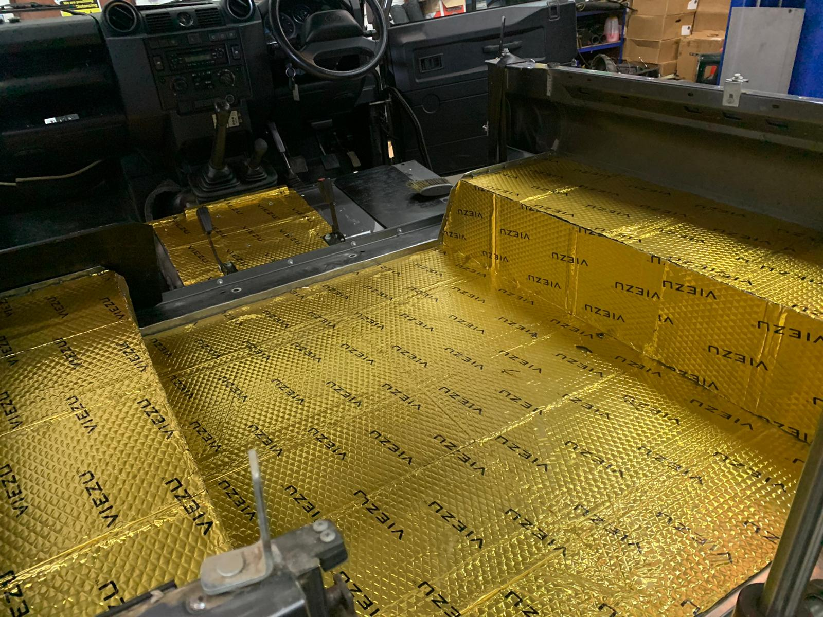 Land Rover Defender Soundproofing, Land Rover Defender Soundproofing and sound deadening material